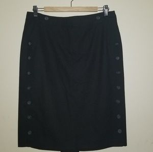 The Limited Black Button Down Skirt